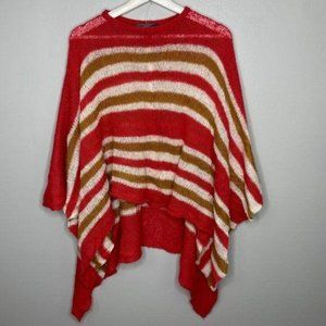 Wooden Ships Orange Poncho Sweater OS